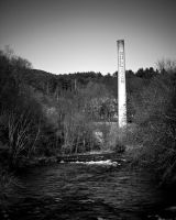 Sullivan Smoke Stack in BW by b-a88