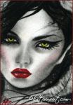 Maleficent ACEO by Katerina-Art