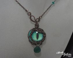Serpent eye necklace by bodaszilvia