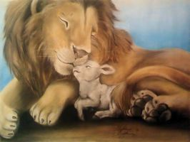 The Lion lays with the Lamb by SkiAr7sy