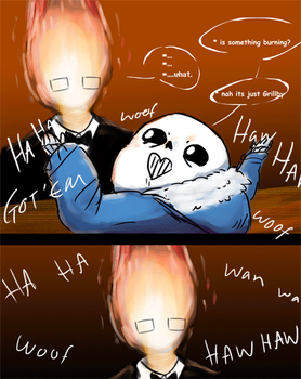 sans and his jokes by annaxxz
