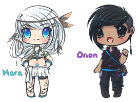 Mara and Orion Chibis by Reverrii