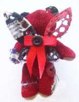 Red Patched Bear with wings by s-qweek