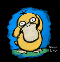Psyduck Drawing by TrivialTurtle