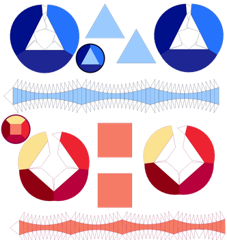Ruby and Sapphire Papercraft Templates by portadorX