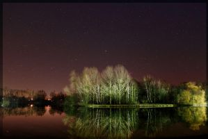nacht am see2 by Bonchito-Blue