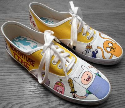Adventure Time Shoes 2 I by Misfit-Mistress