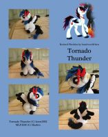 Knitted Plushies - Tornado Thunder (OC) by haselwoelfchen