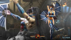 MK 2011 Kitana Wallpaper by LycaosScythe