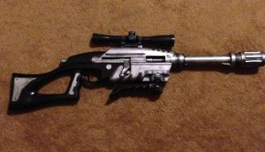 Custom painted nerf sniper rifle by TheDarkAssassin444
