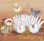 Hatoful Thanksgiving by VAMPIRELG