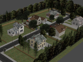 TWD SEASON 1 - CLEMENTINE HOUSE EXTERIORS by Oo-FiL-oO