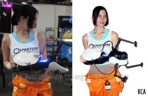 Cosplay - Chell from Portal 2 by Kitty-Cat-Angel