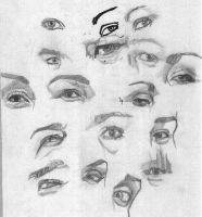 A bunch of eyes by X2j2012