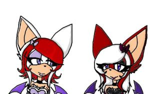 knuxouge twins by Moonthewolf001