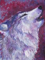 Howling Wolf by WafflesMcCoy