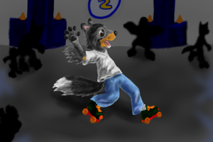 two left feet on the skating rink by Colliequest