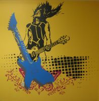 Feel the Music - wall mural by Averin-Renee