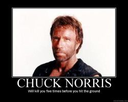Chuck Norris demotivational by randomgibberish