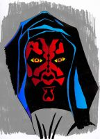 star wars darth maul by Solider12