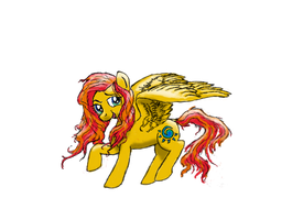 Summer Skies (mascot pony for Fiesta Equestria) by Pwnyville