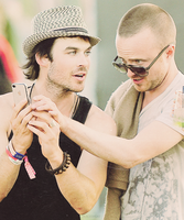 Ian Somerhalder and Aaron Paul by Linds37