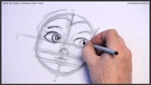 Learn How to Draw Young Girl's Face 009 by drawingcourse