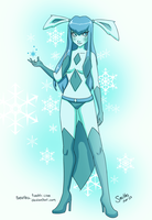 Ice Foxy Glaceon by Seatha
