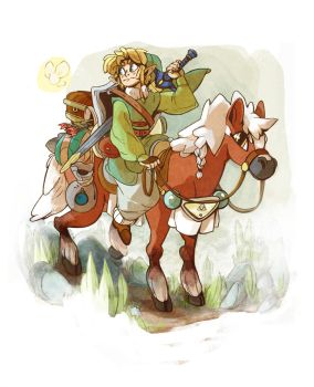 Link and Epona by Siarina