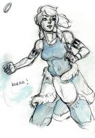 Korra sketch 1 by winderly