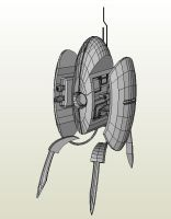 Lifesize Portal Turret Papercraft by artbetep