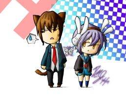TMOHSC: Kyon-kun and Yuki-chan by DeAnimeJ