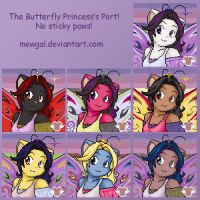 Butterfly Princess' Port by mewgal