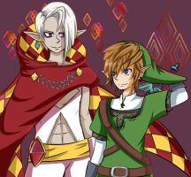 Ghirahim and Link by Abakura