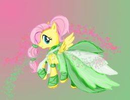 Fluttershy Gala Dress by Goosebumps-Fan57