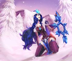 Snowstorm Sivir - League Of Legends by hellfire-shield
