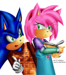 Klaudy-na's SonAmy moment by EllyTheGee