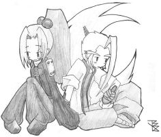 Musashi and Clover as Kids by Big-Joop