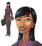 Asian Business Woman by GeekyWhiteGuy