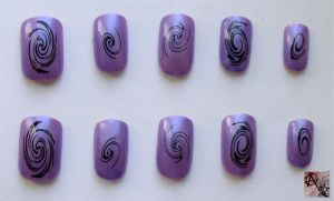 Purple Swirl by AnarchyAi