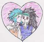 Levy and Gajeel by nightcat17
