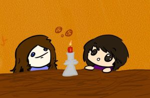 the candle is UHMAYZUHN by lunarwingthecat