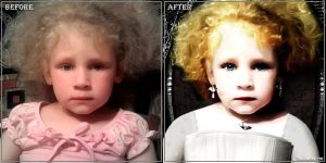 Claudia. Before - after. by theAmoretto