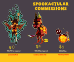 Halloween Commissionss by Spirited-Violet