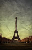 03.Vintage Eiffel Tower by KEVZART