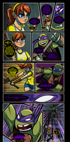 Donatello+April 'NinjaVanish (Censored) by JasmineAlexandra