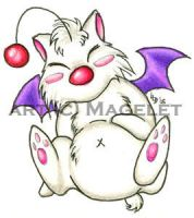 Chubby Moogle Sticker by Magelet