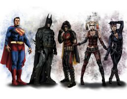 Print - Arkham City Characters by danecypel