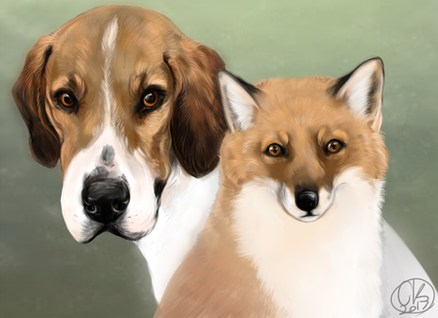 The fox and the hound (redraw) by dantibee