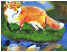 River Fox by ConkerTSquirrel